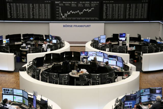 The German share price index DAX graph is pictured at the stock exchange in Frankfurt, Germany, February March 30, 2020. REUTERS/Staff